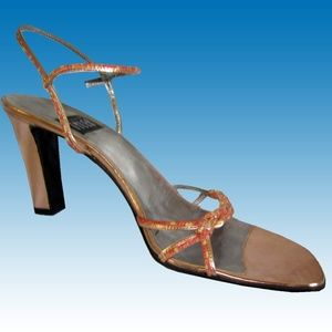 NEW! RICHARD TYLER Italian Heels Shoes Rose Gold